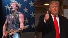 Bruce Springsteen expressed tolerant political views for President Trump and the America First agenda. Phot credit to The Freedom Times compilation with screen shots.