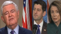 Newt would like to see transparency in the House. Photo credit to The Freedom Times compilation with screen shots.