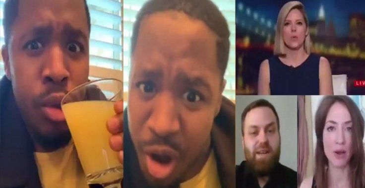 Terrence Williams' laughter is irresistible as he reviews CNN's segment on Witchcraft activism. Photo credit to The Freedom Times compilation with screen shots.