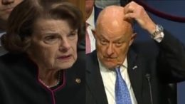 Feinstein and Clapper defend leaker Wolfe. Photo credit to The Freedom Times compilation with screen shots.