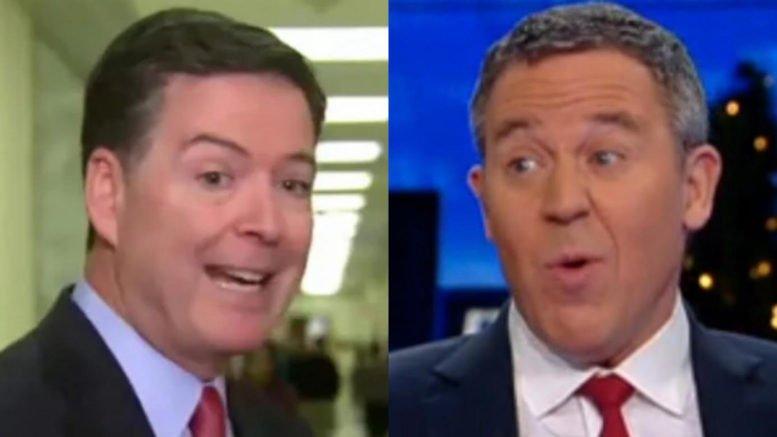 Greg Gutfeld speaks out on Director James Comey's left-wing comments after testimony. Photo credit to The Freedom Times compilation with screen captures.