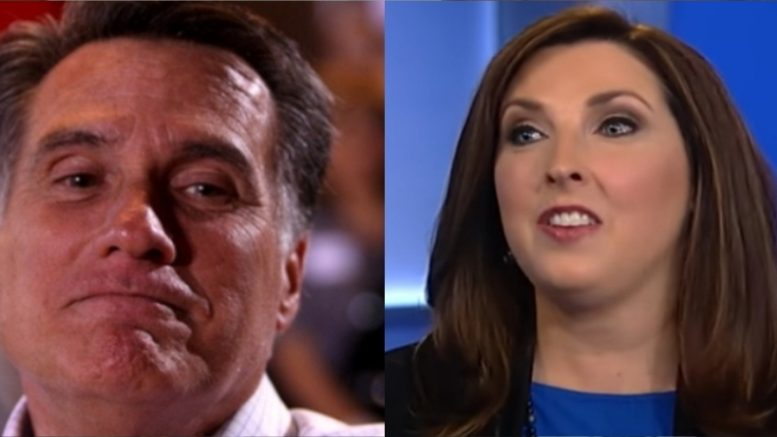 Mitt Romney's niece, Chairwoman for the RNC, slams her Uncle for anti-Trump op-ed in the Washington Post. Photo credit to The Freedom Times compilation with Humor Times, Fox Screen Shot.