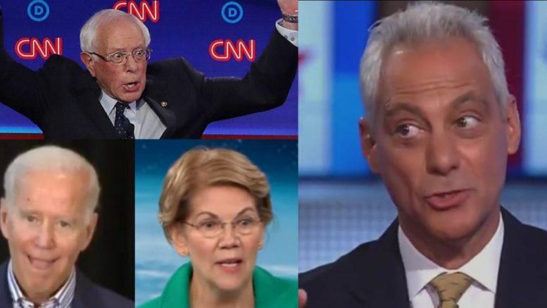 Bernie, Biden, Warren, Emanuel
