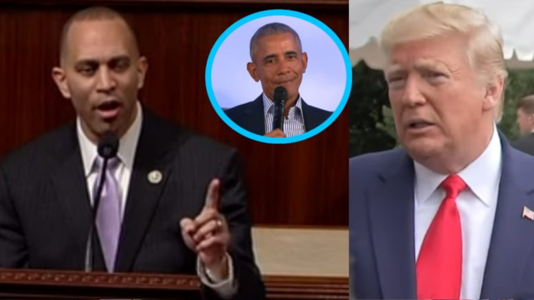 Hakeem Jeffries, Obama, Trump