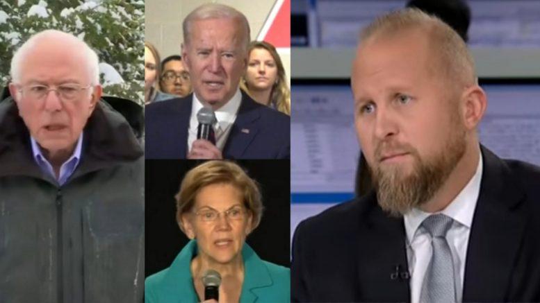 Bernie, Biden, Warren, Parscale