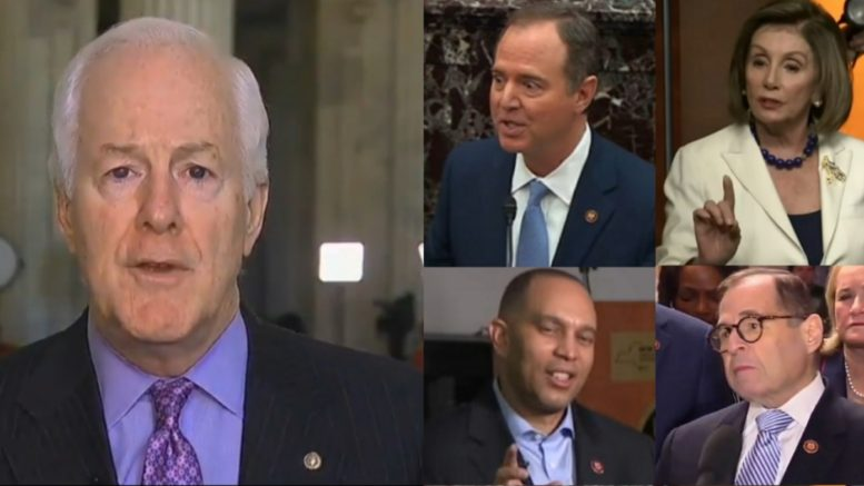 Cornyn, Schiff, Pelosi, Jeffries, Nadler