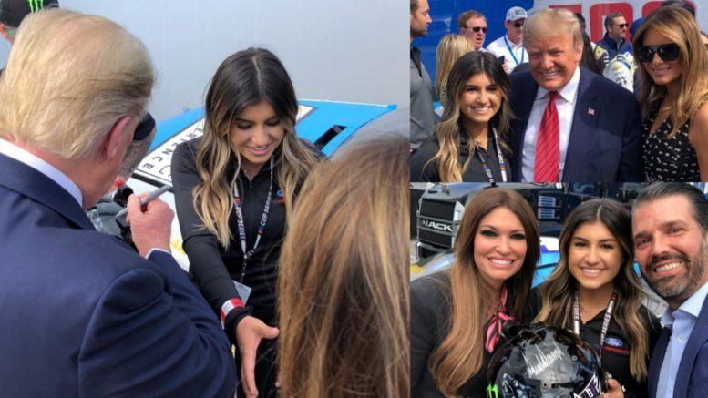 Trump, Daytona 500, Hailie Deegan