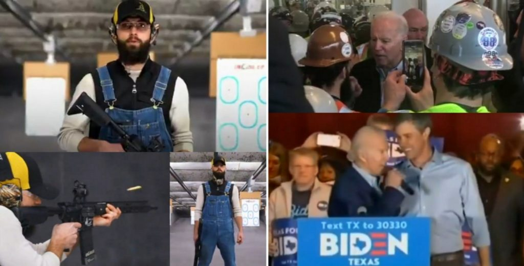 Union Worker Who Clashed With Biden Unveils His New 'AR-14 ...