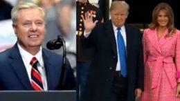Lindsey Graham, Trump, Melania
