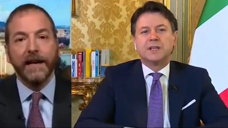 Chuck Todd, Italy Prime Minister