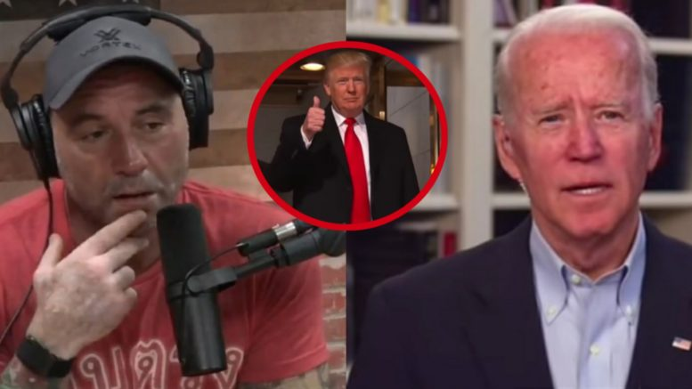 Joe Rogan, Biden, Trump