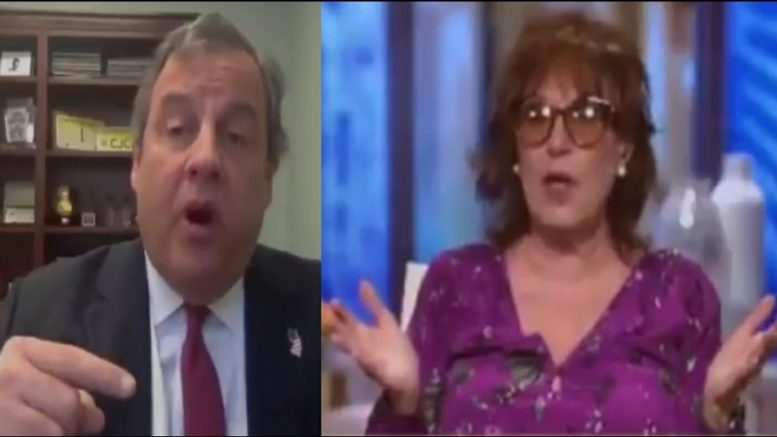 Chris Christie, Joy Behar