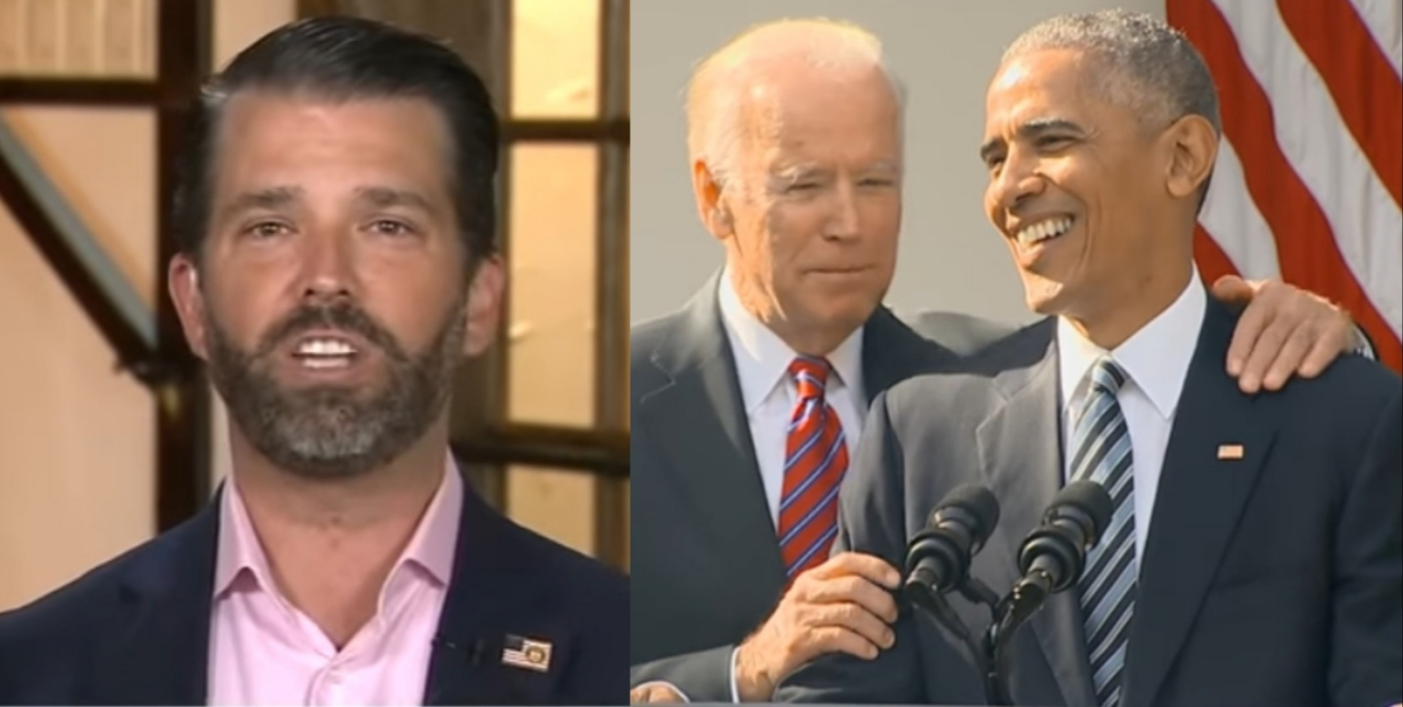 """Don Jr.: If Biden Knows How To Fix Everything He's Talking About, """"Why Didn't He Tell Obama"""""""
