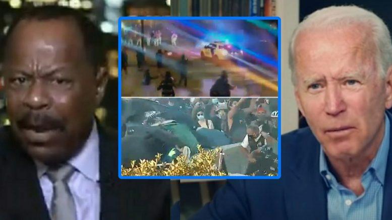 Leo Terrell, Joe Biden, Protesters