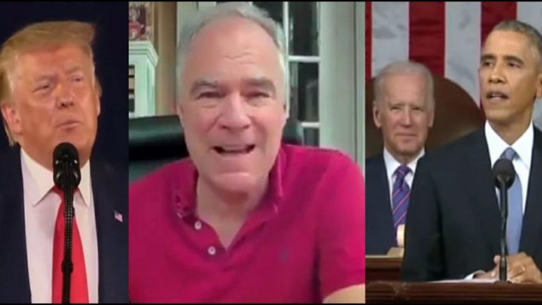 Trump, Kaine, Obama, Biden