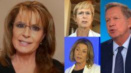 Palin, whitman, Molinari, Kasich