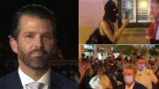 trump jr., protesters