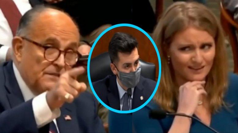 Rudy Giuliani, Jenna Ellis, Darrin Camilleri