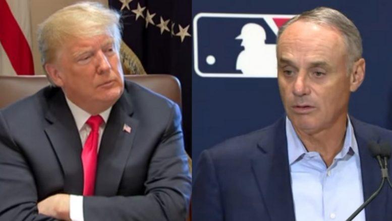 Trump, Manfred, MLB