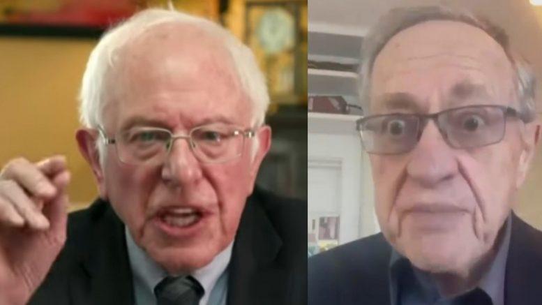 Bernie Sanders, Dershowitz
