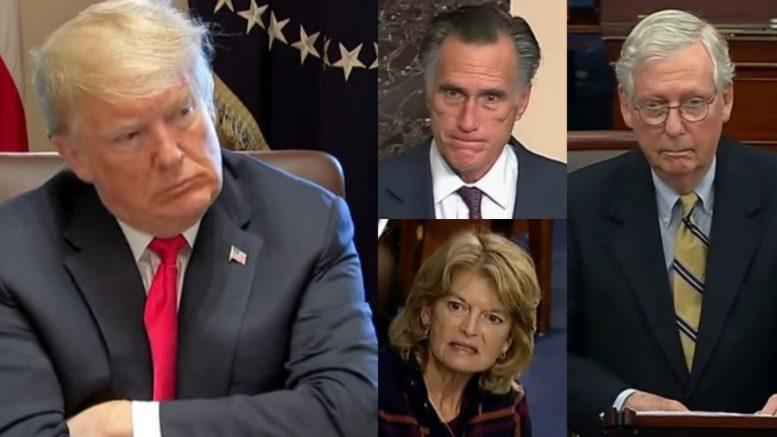 Trump, Romney, Murkowski, McConnell