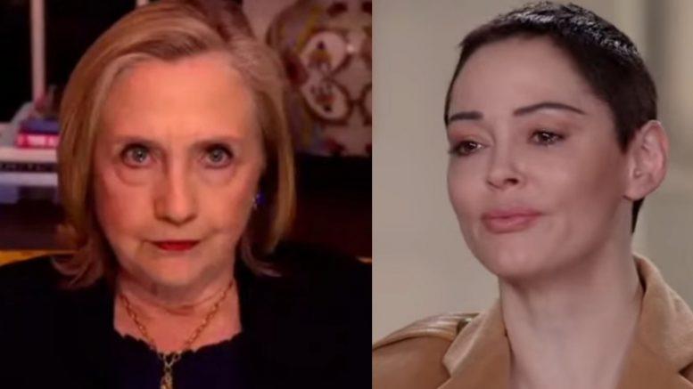 Hillary Clinton, Rose McGowan